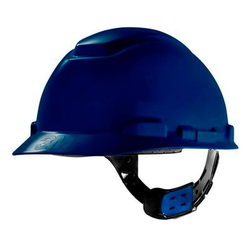 Capacete Azul Escuro C/ Carneira Ajuste Fácil H-700 CA 29638/29637 3M