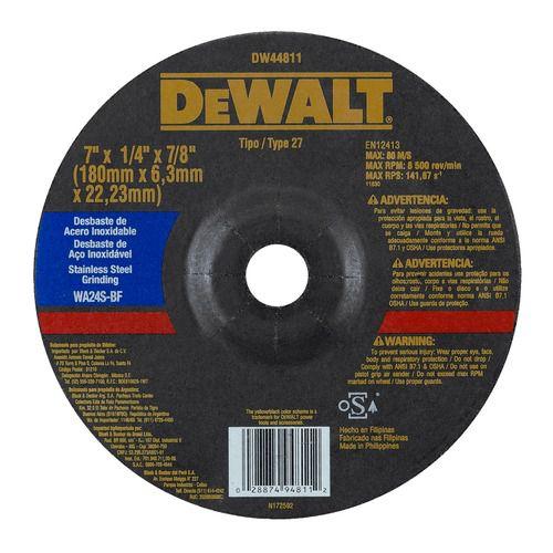 "Disco De Desbaste 7"" X 6.3mm Inox Dw44811 Dewalt"