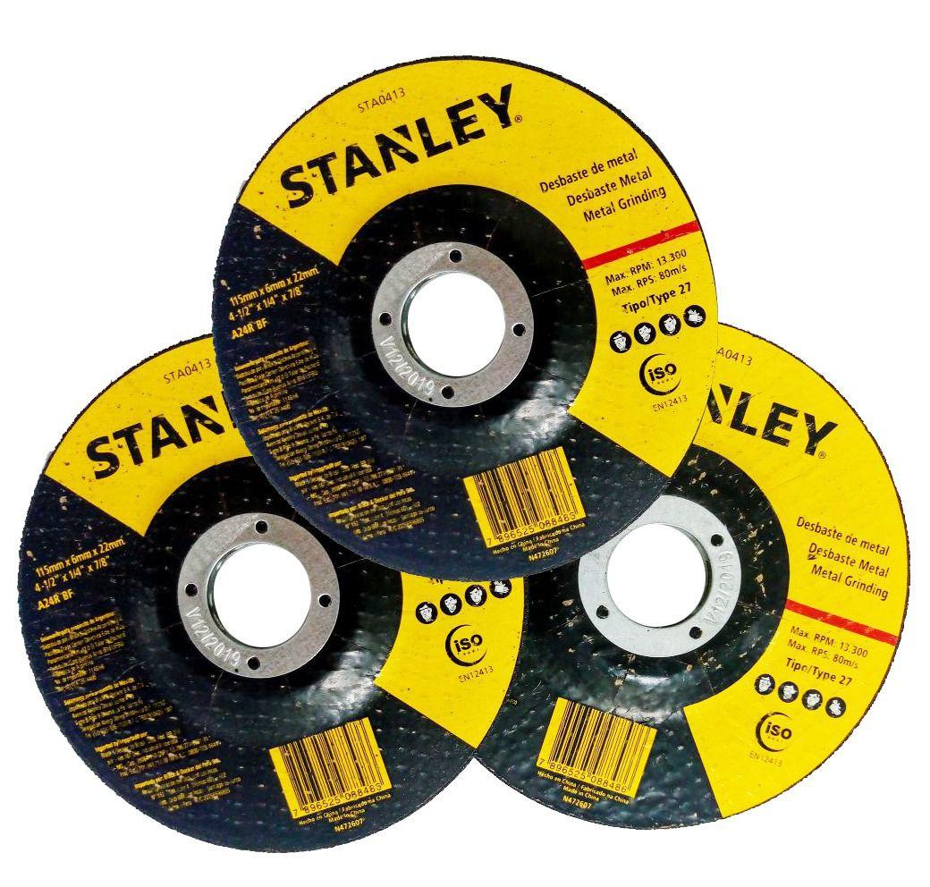 """Disco De Desbaste 7"""" X 6mm Stanley - Sta0414"""