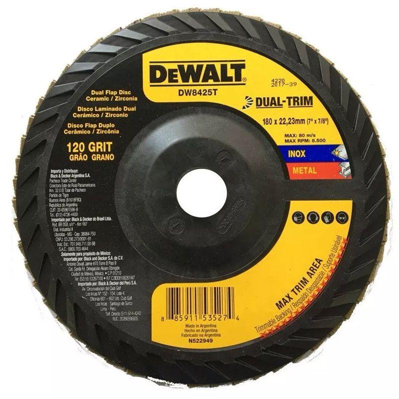 DISCO FLAP 7' GR 120 CERAMICO DUAL-TRIM DW8425T DEWALT