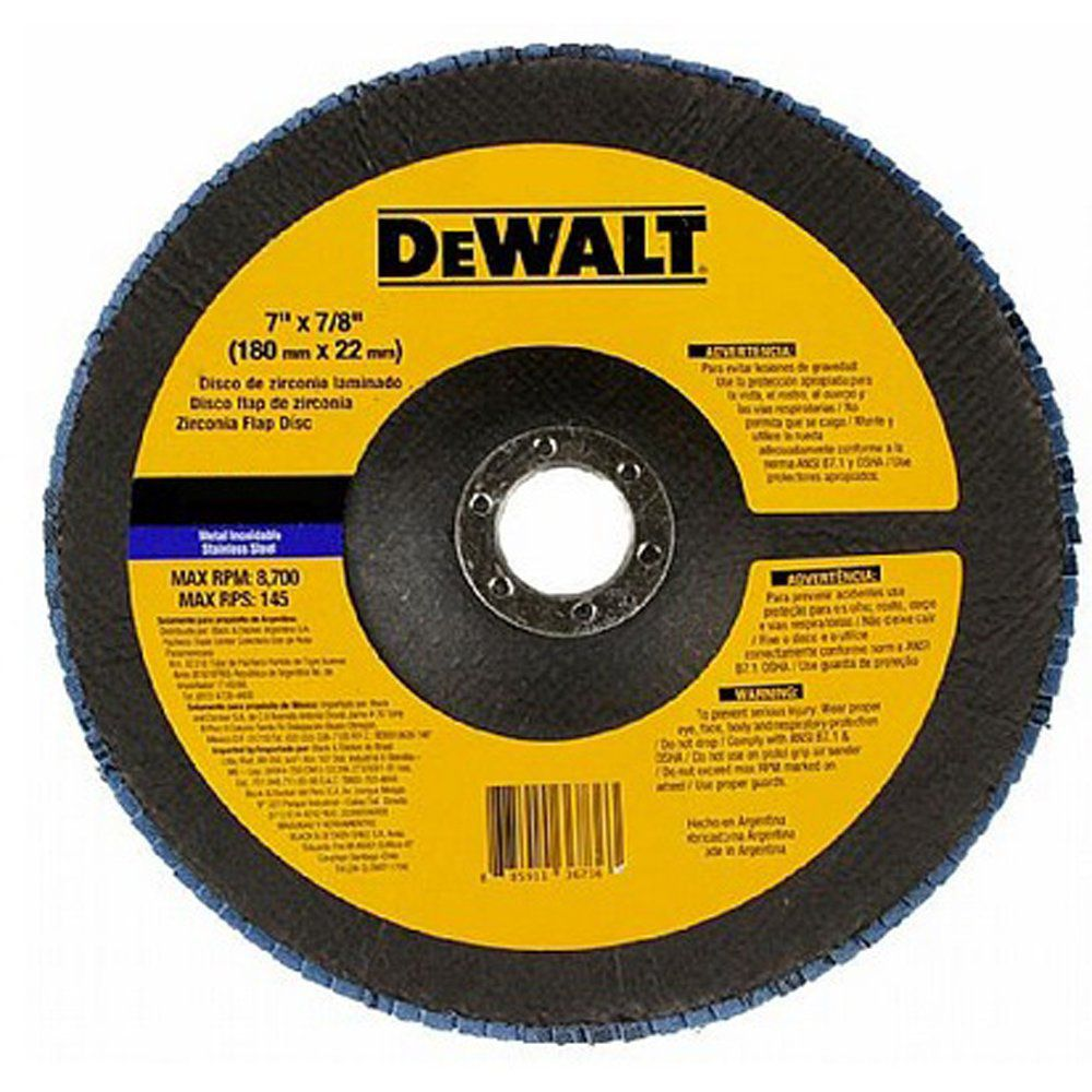 "Disco Flap Fibra 7"" Gr 40 Dewalt - Dw8322-Ar"
