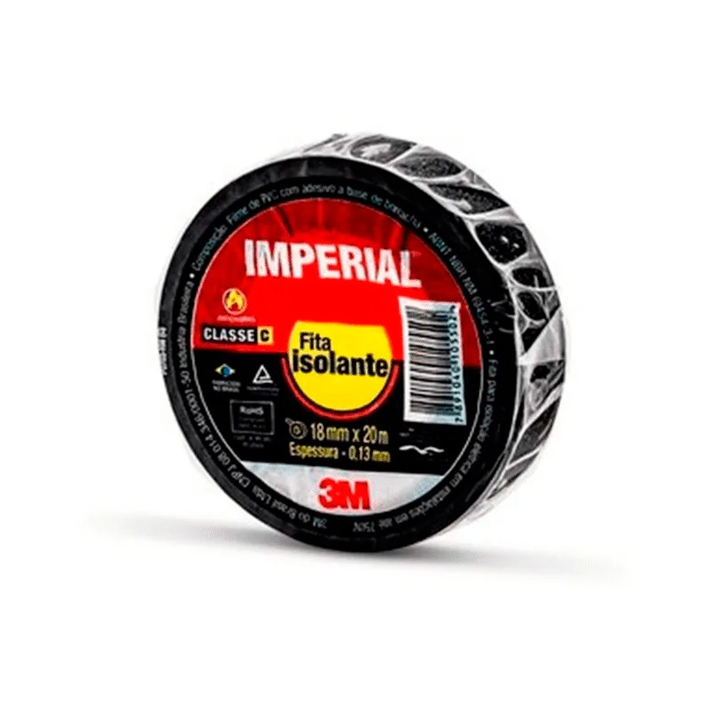 Fita Isolante Imperial 20MTS 3M