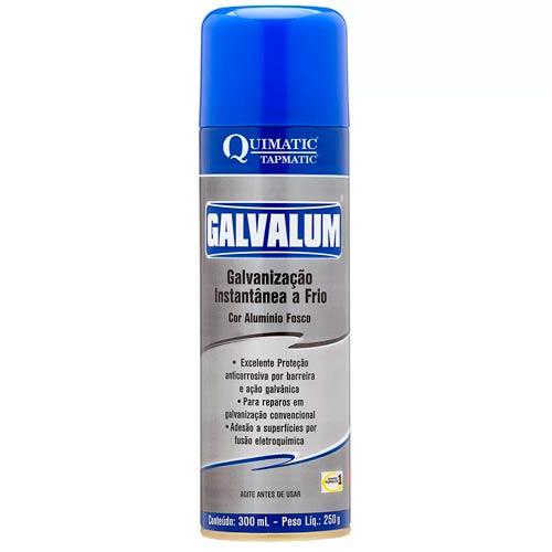Galvalum Galvanização Aluminizado a Frio 300ML Spray Quimatic Tapmatic