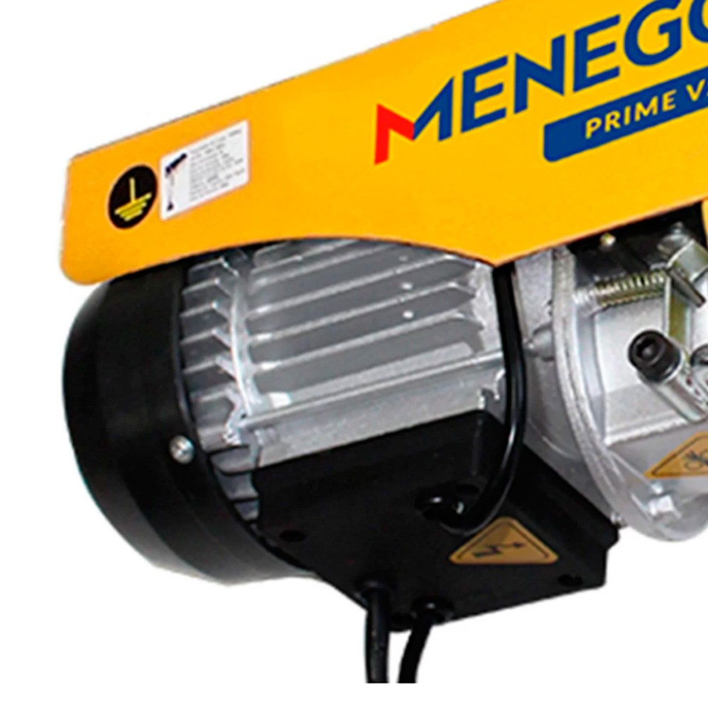 Guincho Coluna Prime V2 150-300KG 12-6M C/Motor 220V Monofásico MENEGOTTI