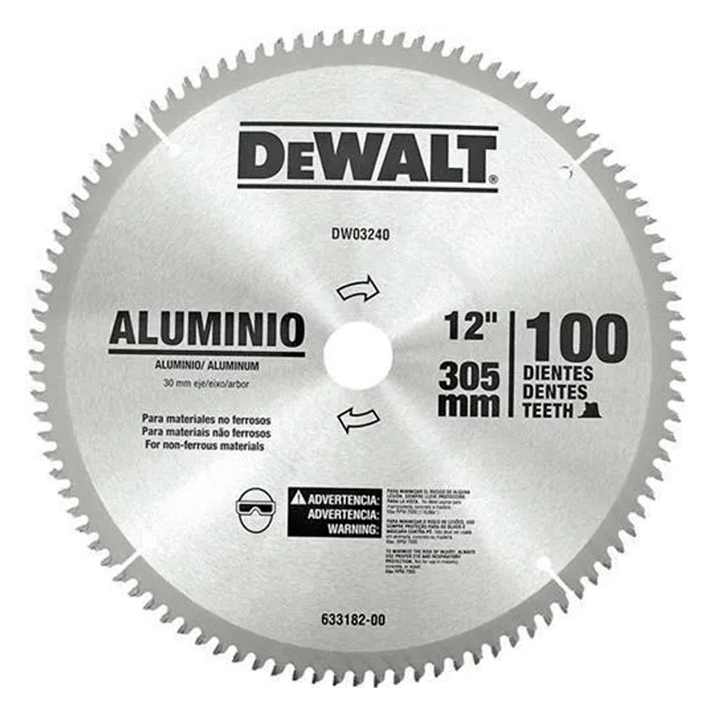"Lâmina Para Serra Esquadria P/ Alumínio 12"" Com 100 DENTES DWA03240 DEWALT"