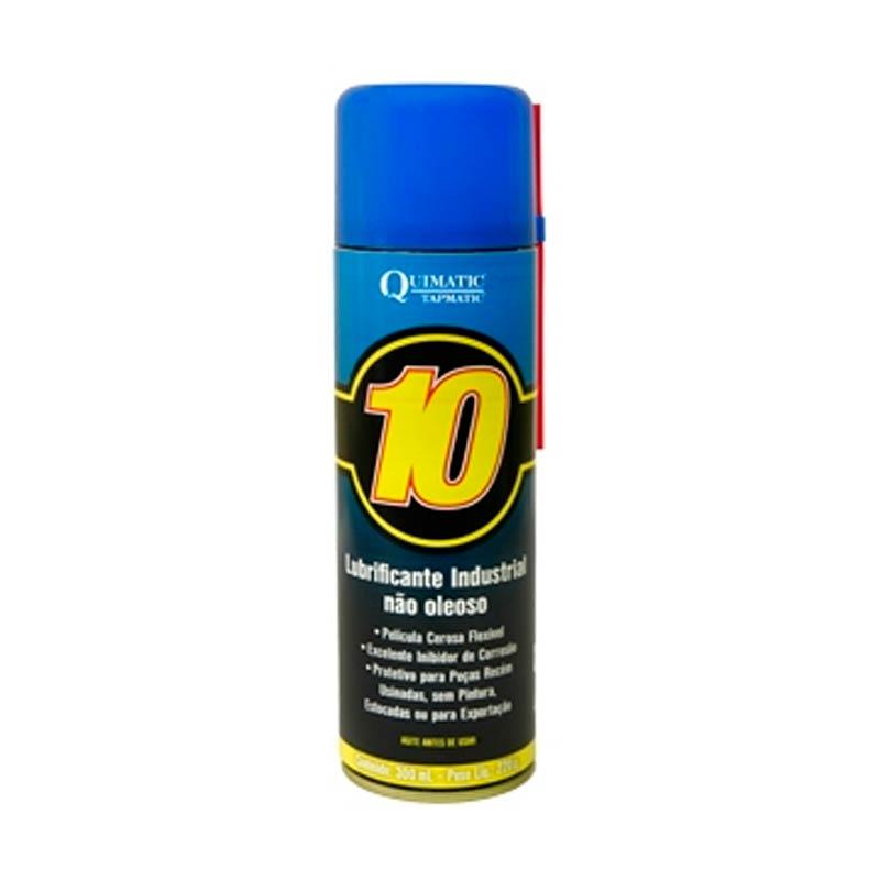Lubrificante Industrial Spray Não Oleoso 300ML Quimatic Tapmatic 10