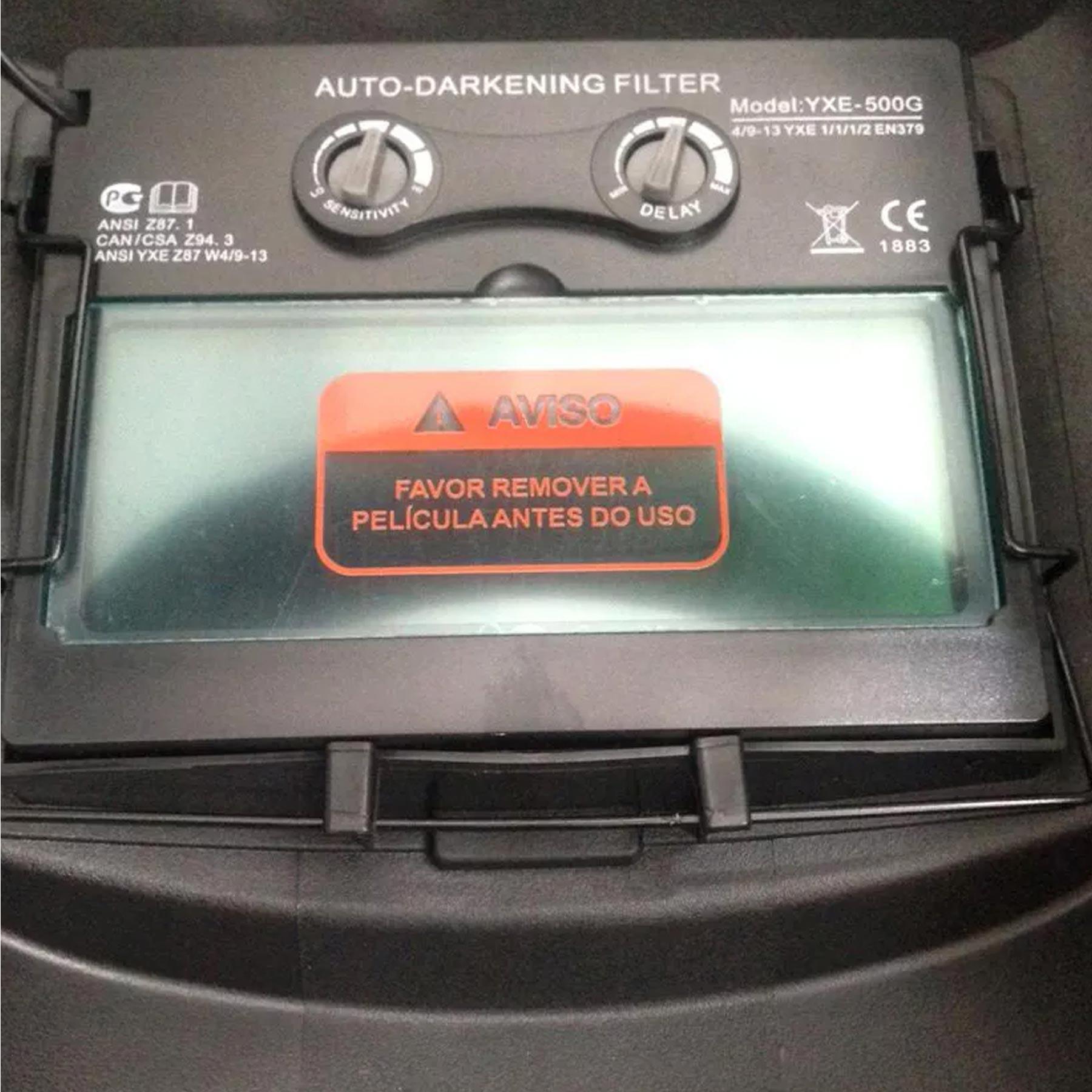 MASCARA DE SOLDA AUTO ESCURECIMENTO 9-13 BLACK - CA 38973