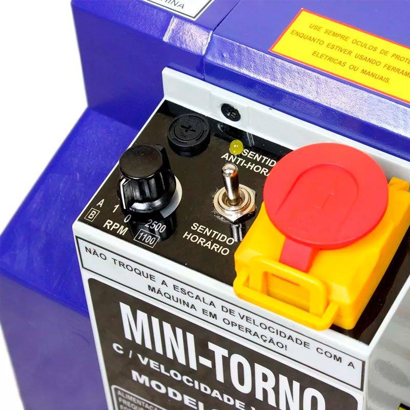 Mini Torno MR-300 180X300MM 220V Monofásico Manrod