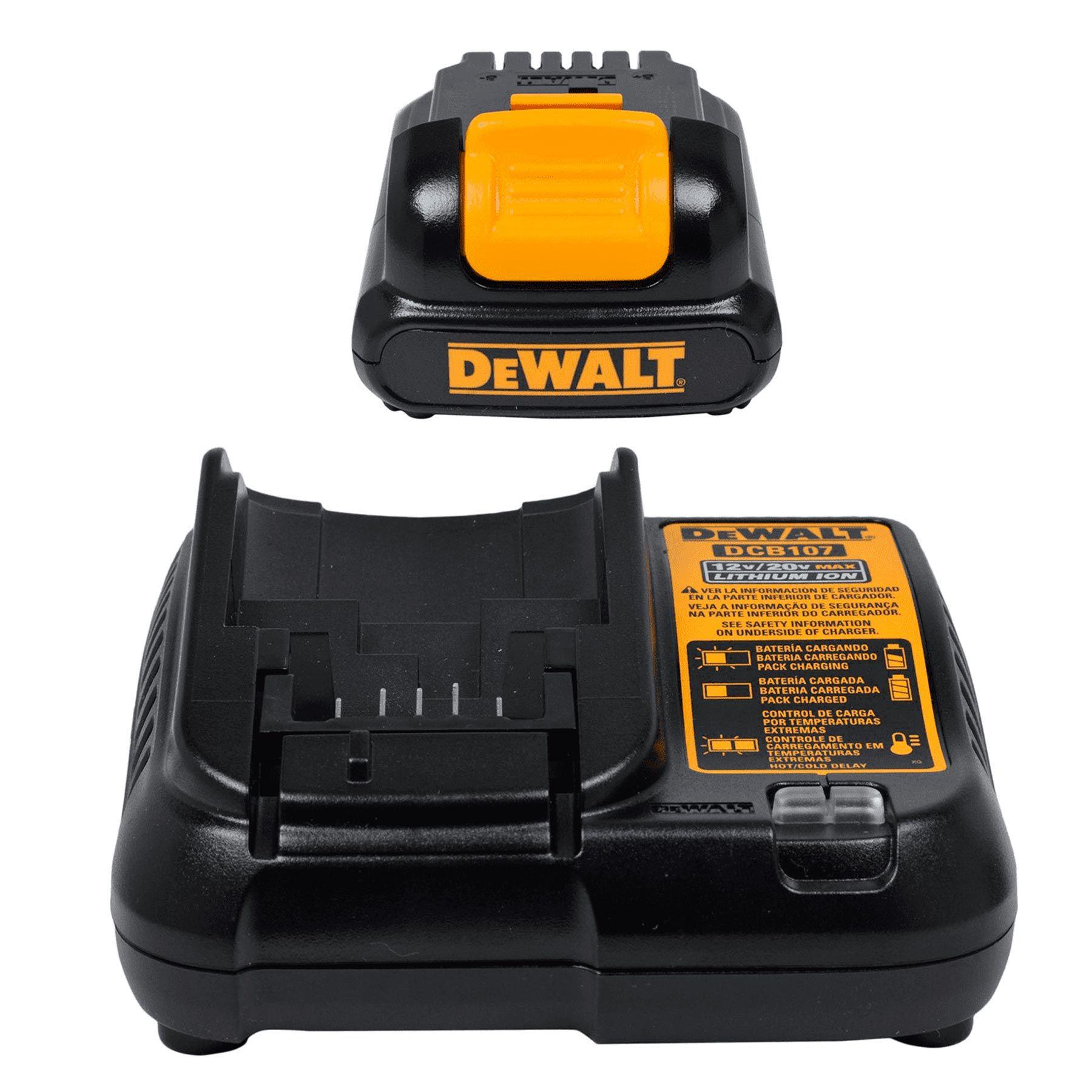 "Parafusadeira/Furadeira 3/8"" 12V MAX LI-ION 2 Baterias DCD700C2 DeWalt"