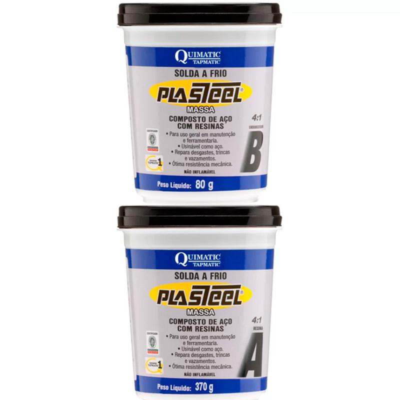Plasteel Massa 4:1 Solda A Frio 450G Quimatic Tapmatic
