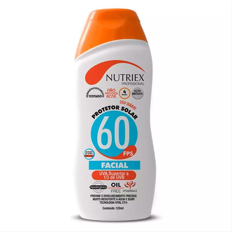 Protetor Solar FPS60 Facial 120ML NUTRIEX