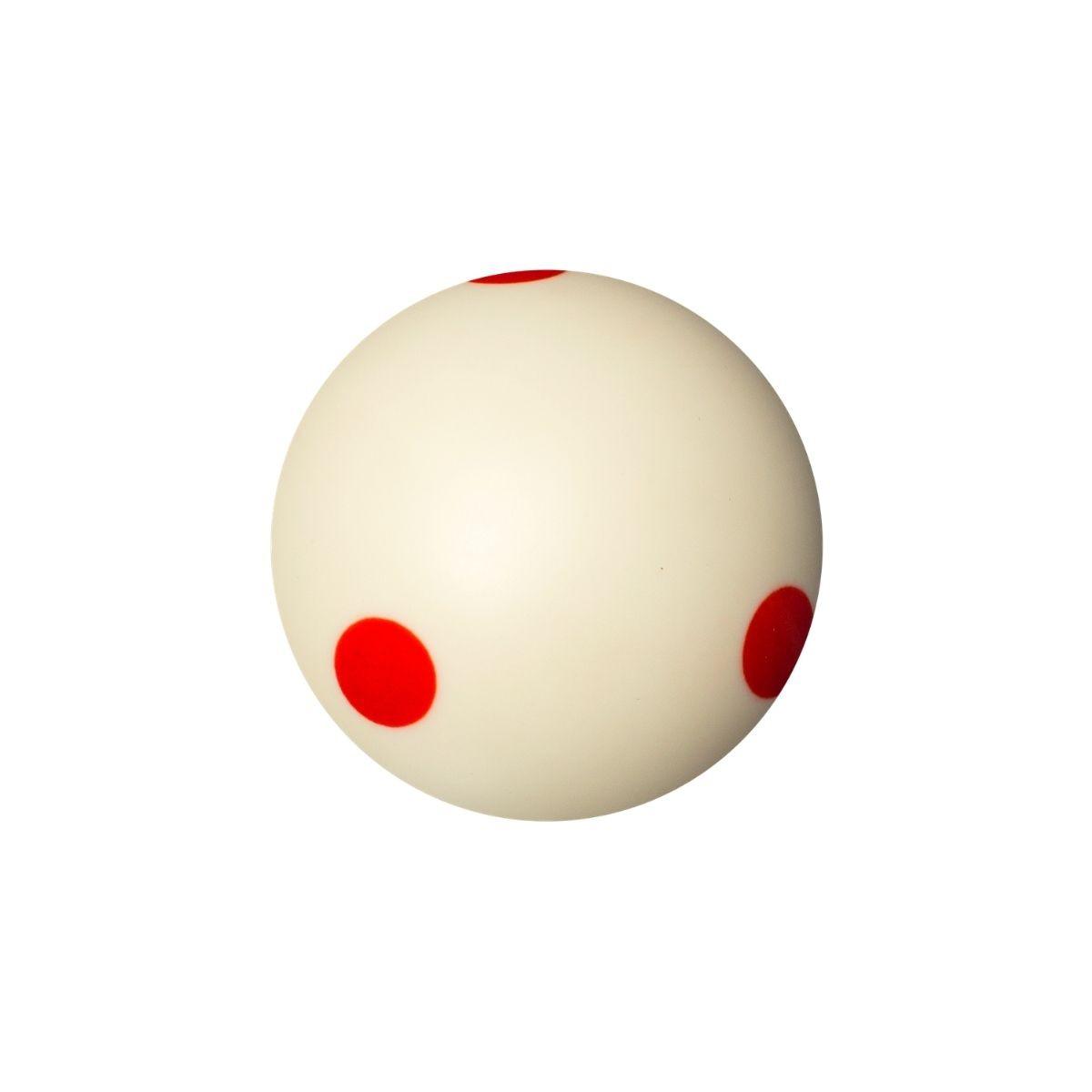 Bola de Treino Six Red Points 57mm para Bilhar Sinuca
