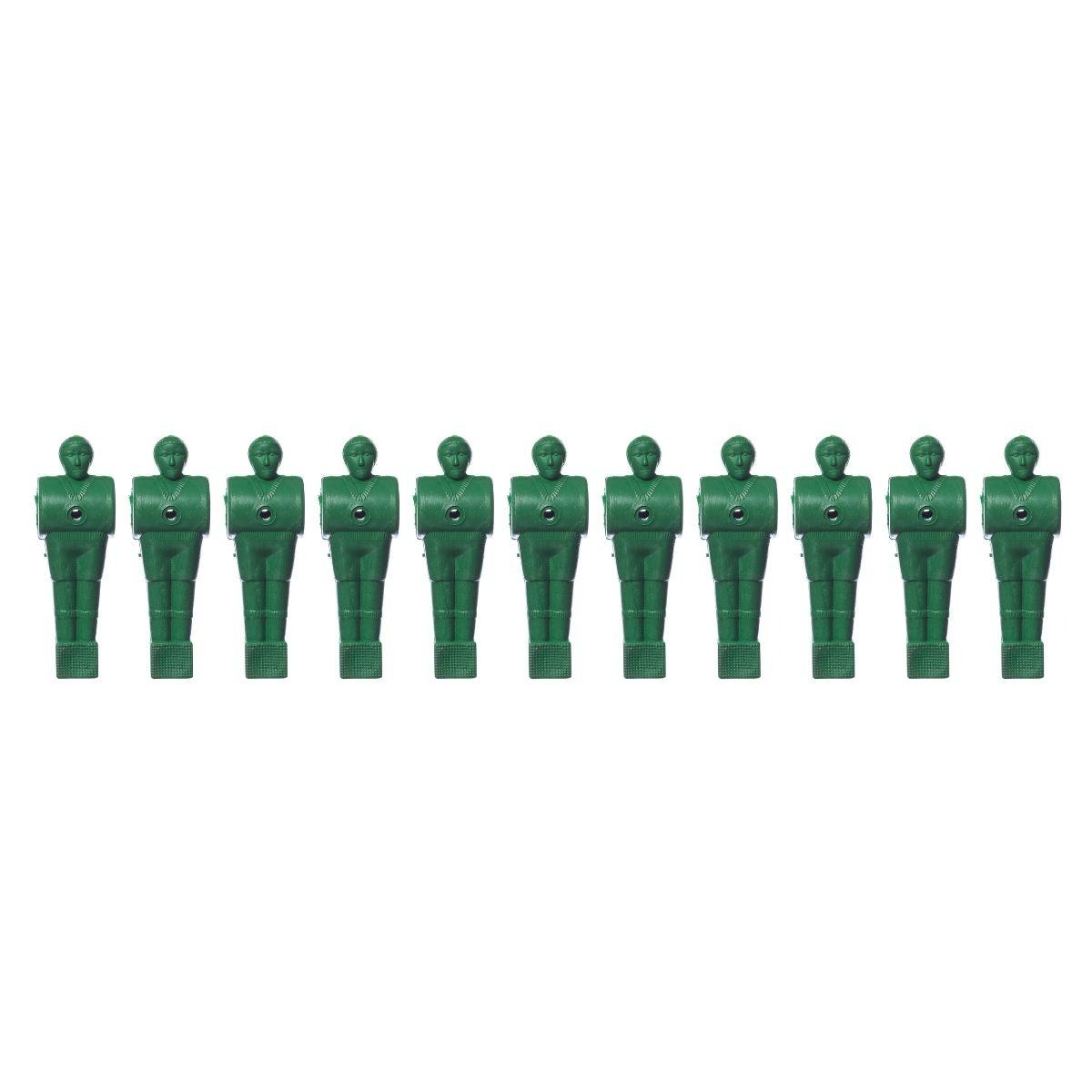 Bonecos Pebolim / Totó verde - 11 unidades
