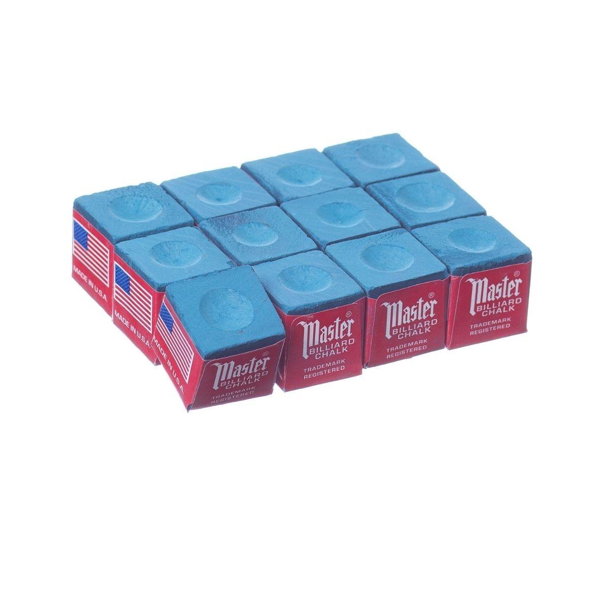 Giz Master Azul Made In Usa para tacos de sinuca - 12 unid