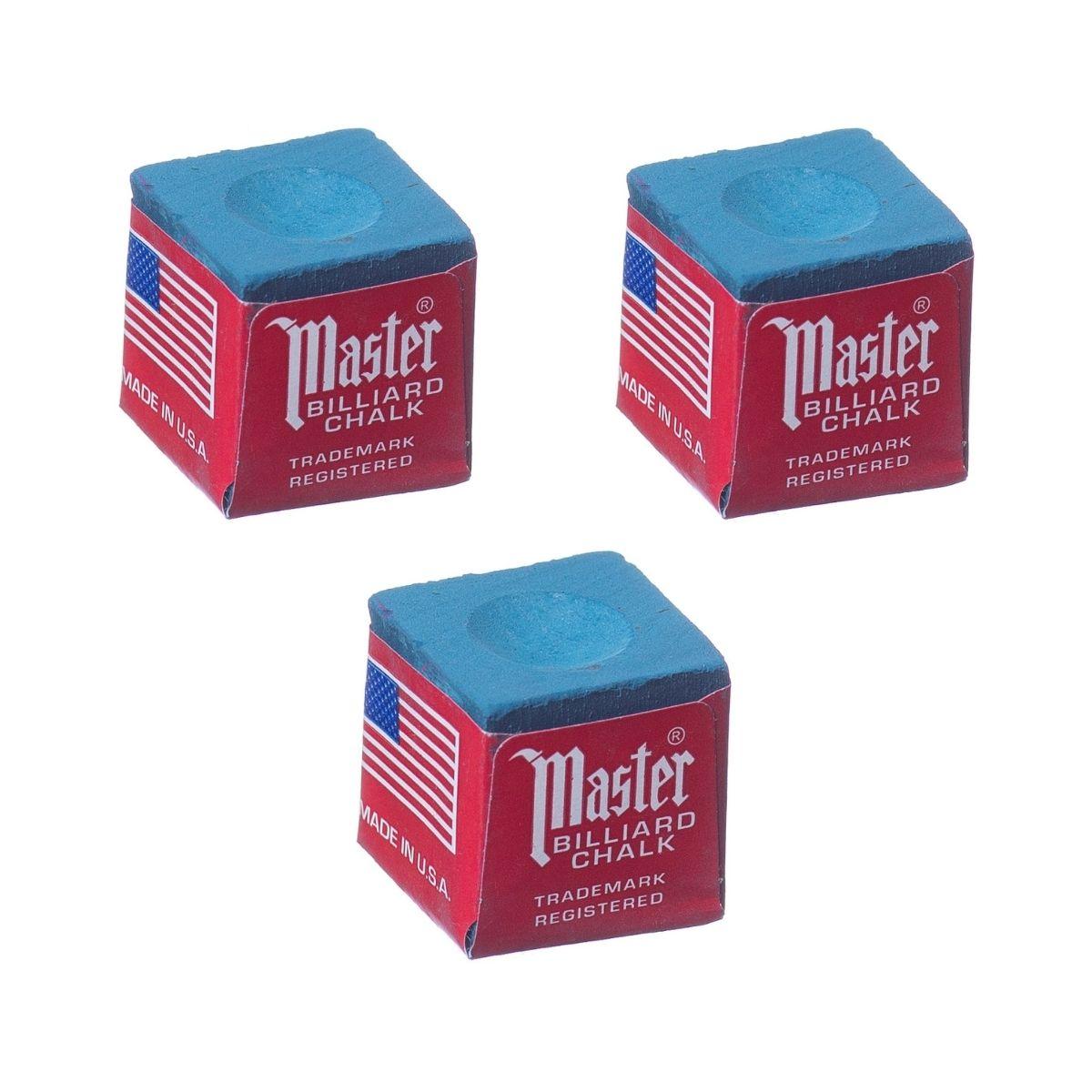 Giz Master Azul Made In Usa para tacos de sinuca - 3 unid