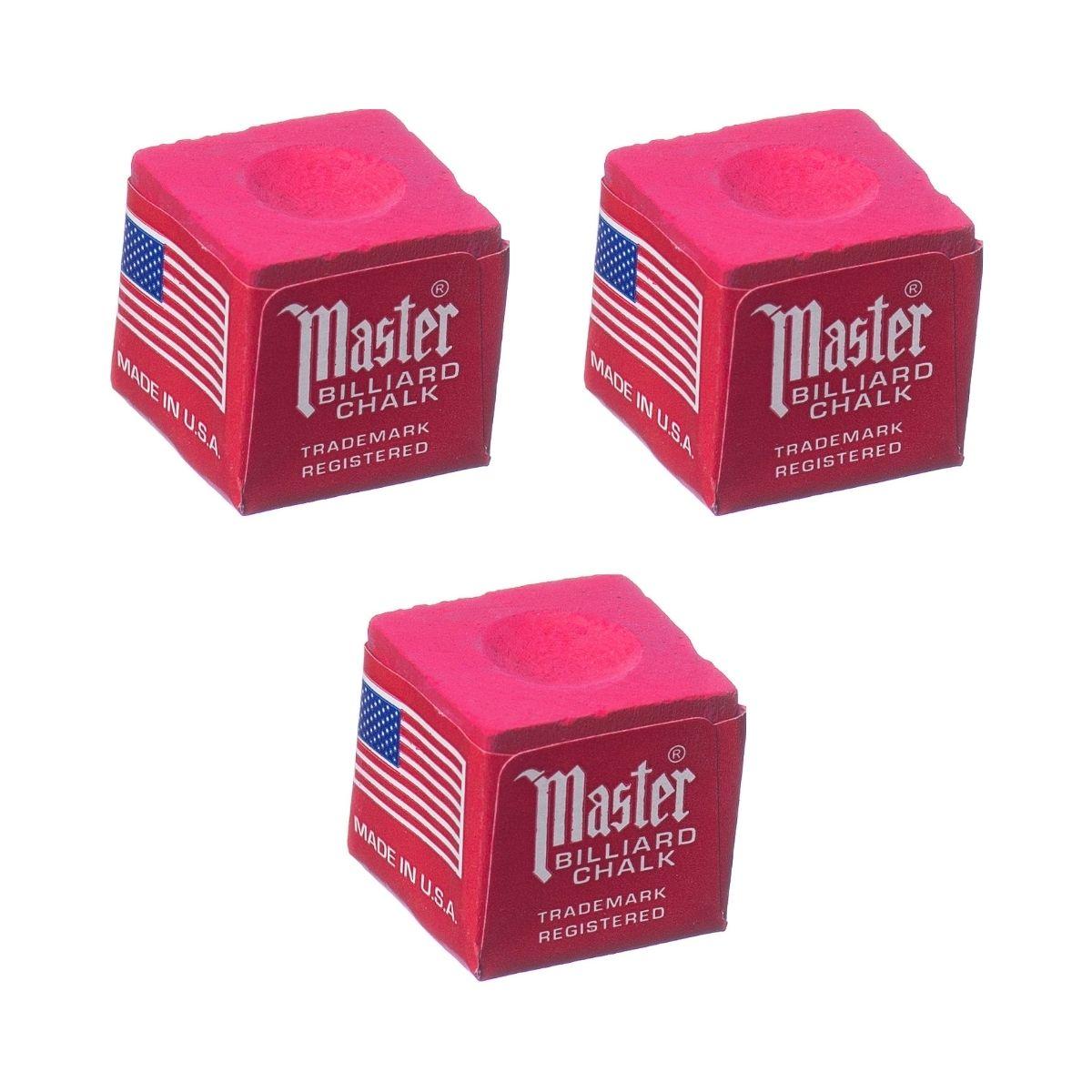 Giz Master Vermelho Made In Usa para tacos de sinuca - 03 unidades