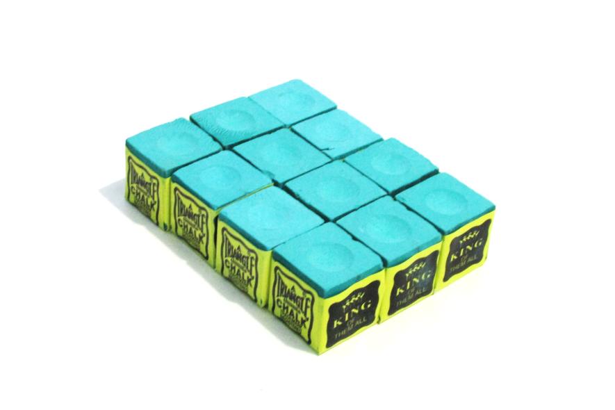 Giz Triangle Verde Claro Made In Usa para tacos de sinuca - 12 unid