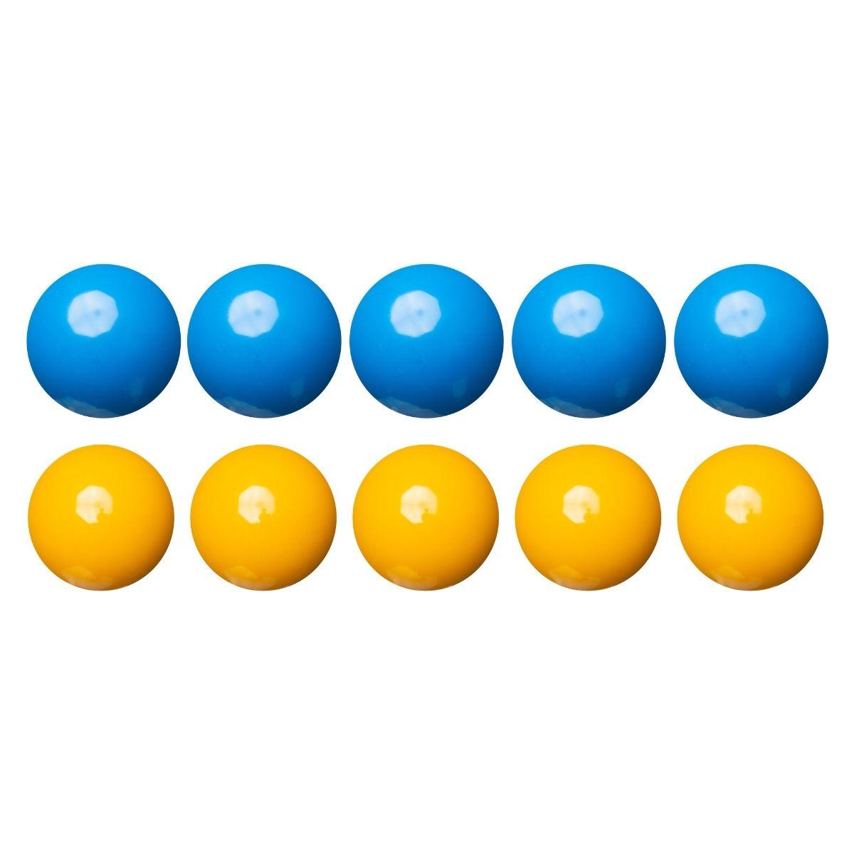 Jogo de Bolas Lisa - Mata Mata Amarelo / Azul 54mm