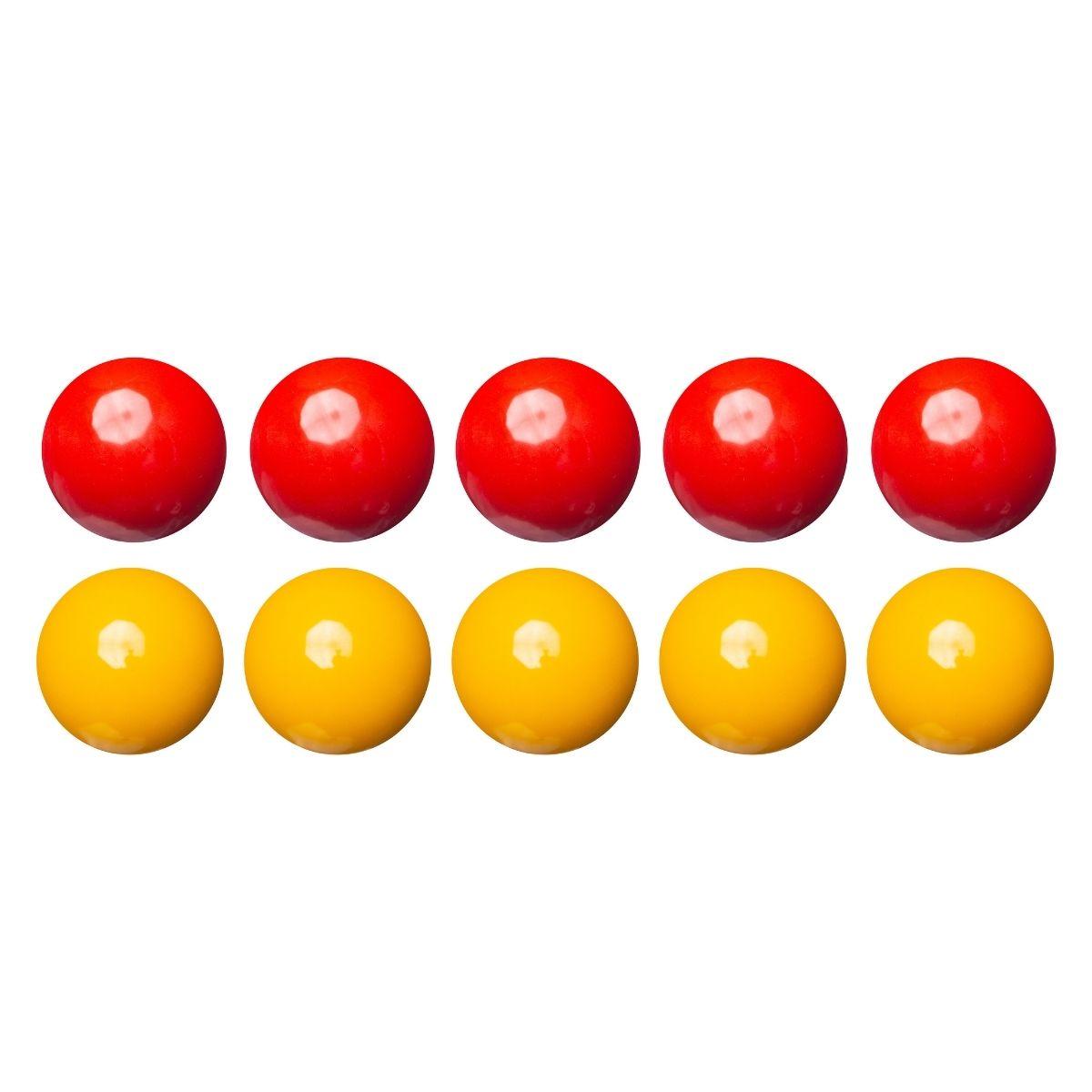 Jogo de Bolas Lisa - Mata Mata Amarelo / Vermelha 54mm