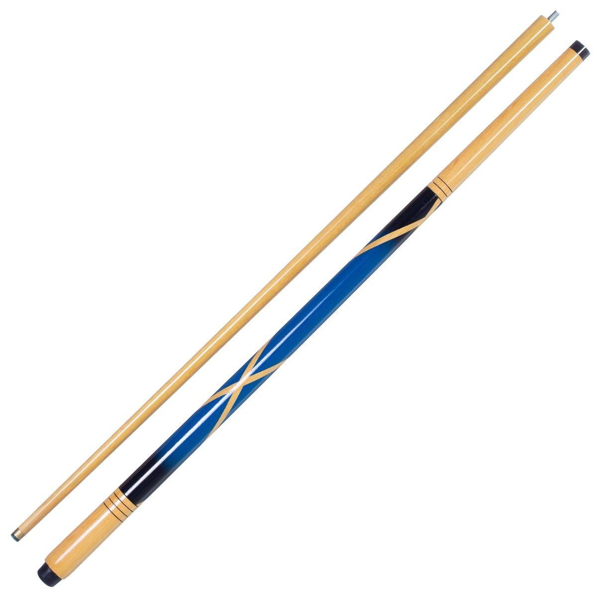 Taco de Sinuca Bipartido Colorido Azul
