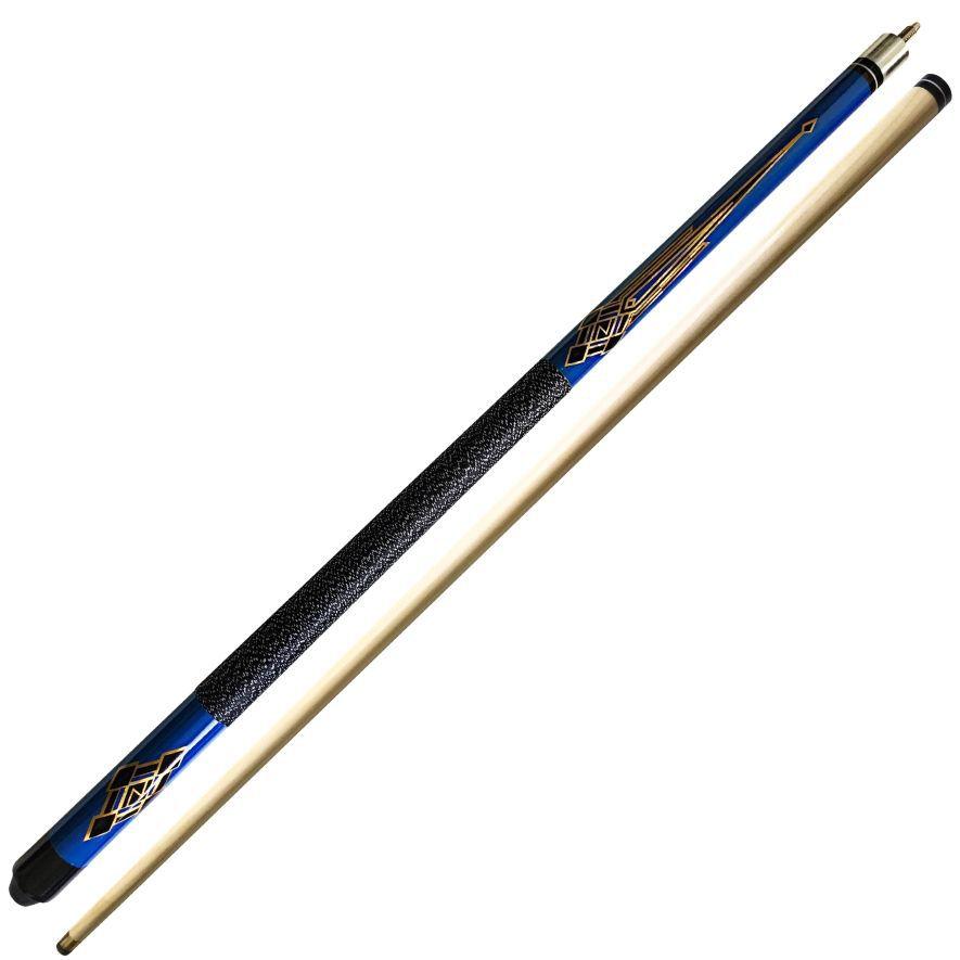 Taco de Sinuca Bipartido Desmontável Importado - Azul