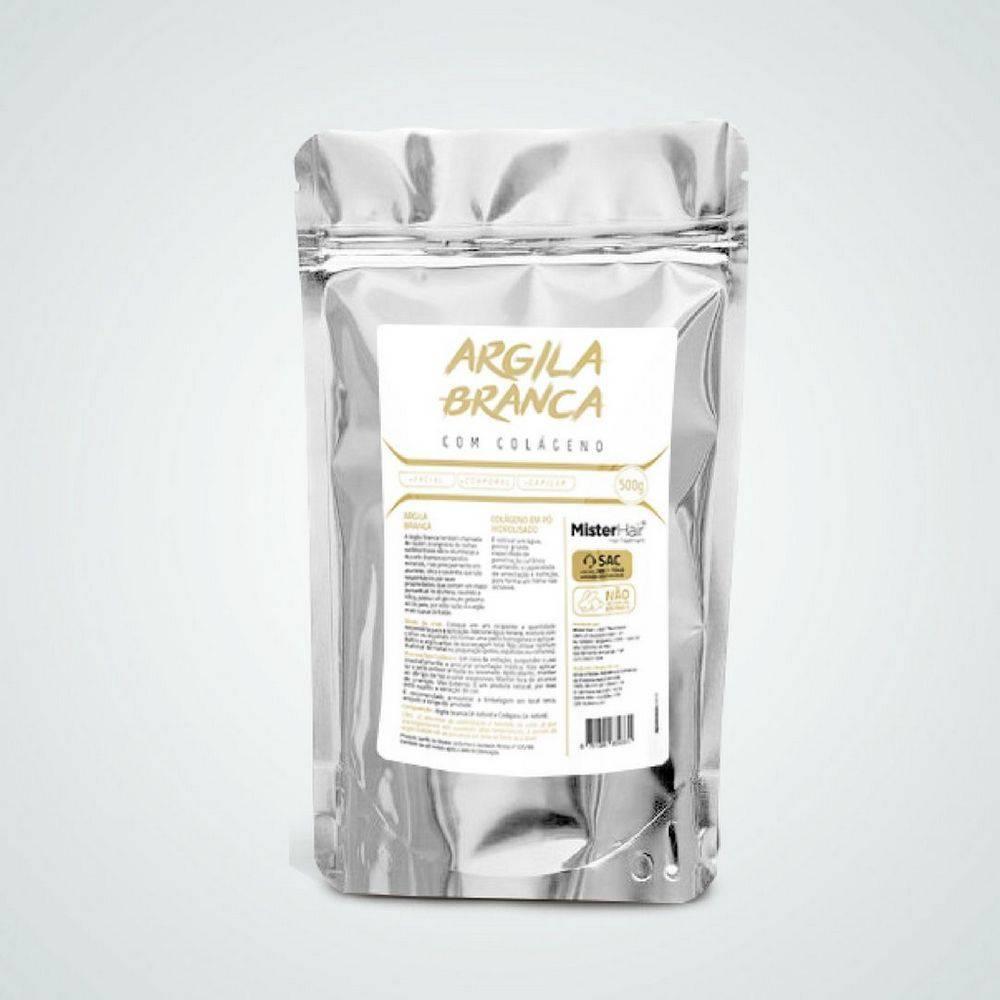 Argila Branca com Colágeno - Mister Hair - 500g