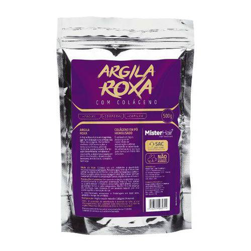 Argila Roxa Com Colágeno - Mister Hair - 500g
