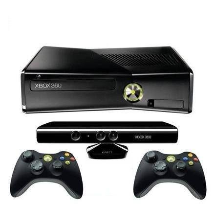 Console Xbox 360 4GB Kinect  2 Controles Wireless