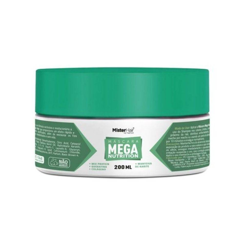 Máscara Mega Nutrition - Mister Hair - 200ml