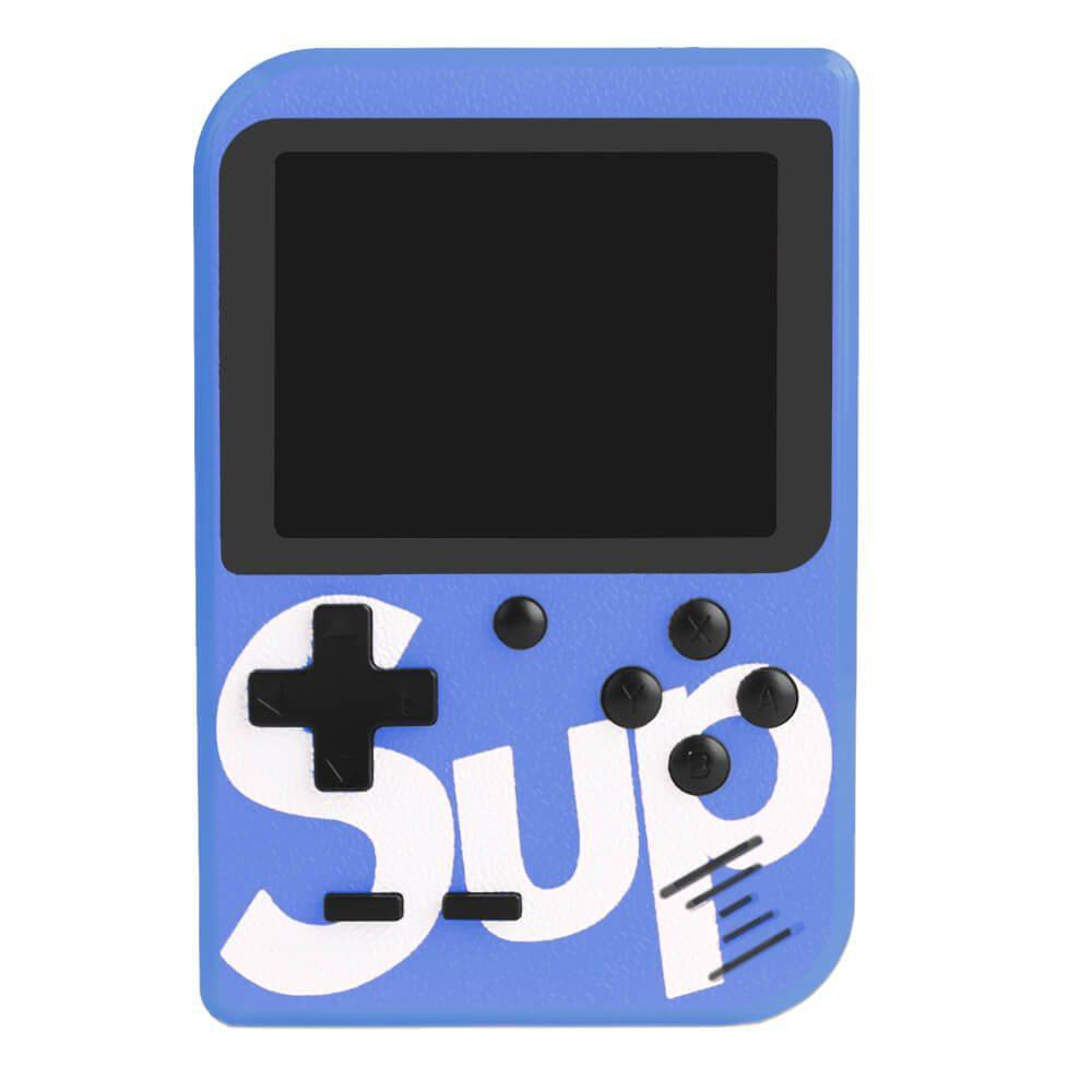 Video Game Portatil 400 Jogos Internos - Mini Game Sup Game Box Plus AZUL