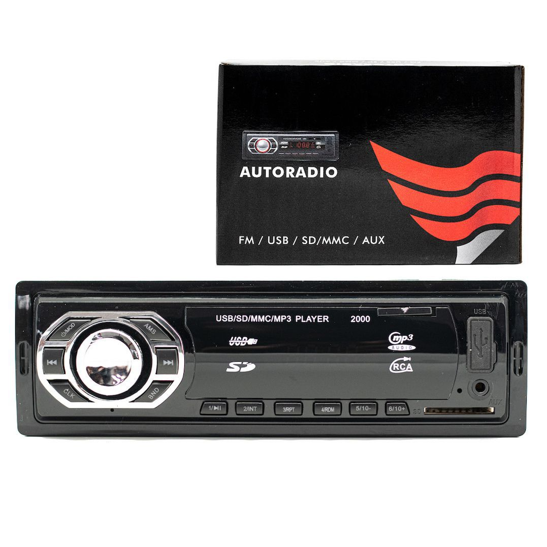 25 Unidades MP3 Player Automotivo Mix 2000 USB SD Auxiliar P2 Rádio FM