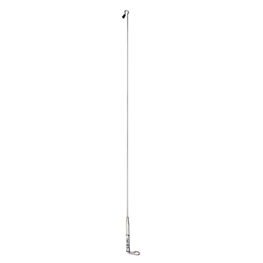 Antena Corta Pipa Moto Retrovisor Fixa c/ Reforço Inox L300, LS Antenas