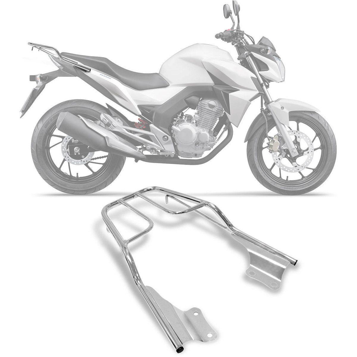 Bagageiro Suporte Honda CB 250 Twister 2015 - Sansão - Cromado - Pro Tork