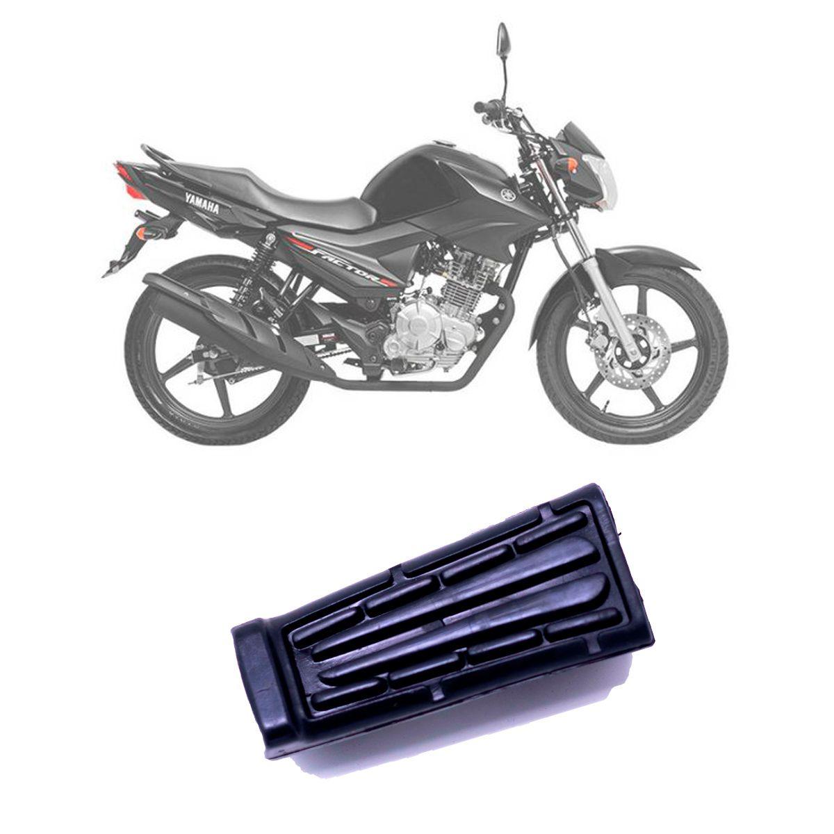 Borracha do Pedal Pedaleira Estribo Yamaha YBR 125 2000 à 2008 - Preto - Vaplas