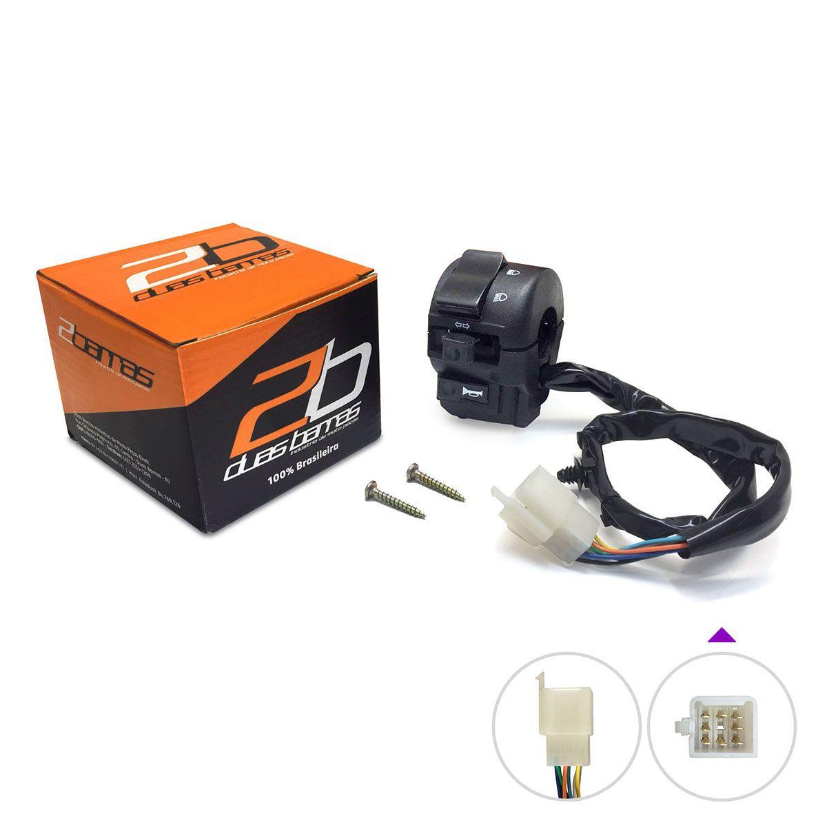 Chave de Luz Interruptor de Farol e Pisca Honga CG 150 Titan Esd/Ex/Ks/Es/Esd/Ex 2009 à 2013 - Duas Barras