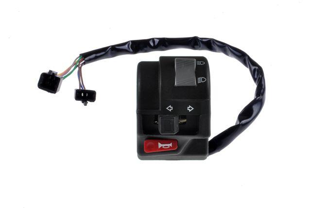 Chave de Luz Interruptor de Farol e Pisca Yamaha YS 150 Fazer Ed/Sed 2014 à 2015 - Duas Barras