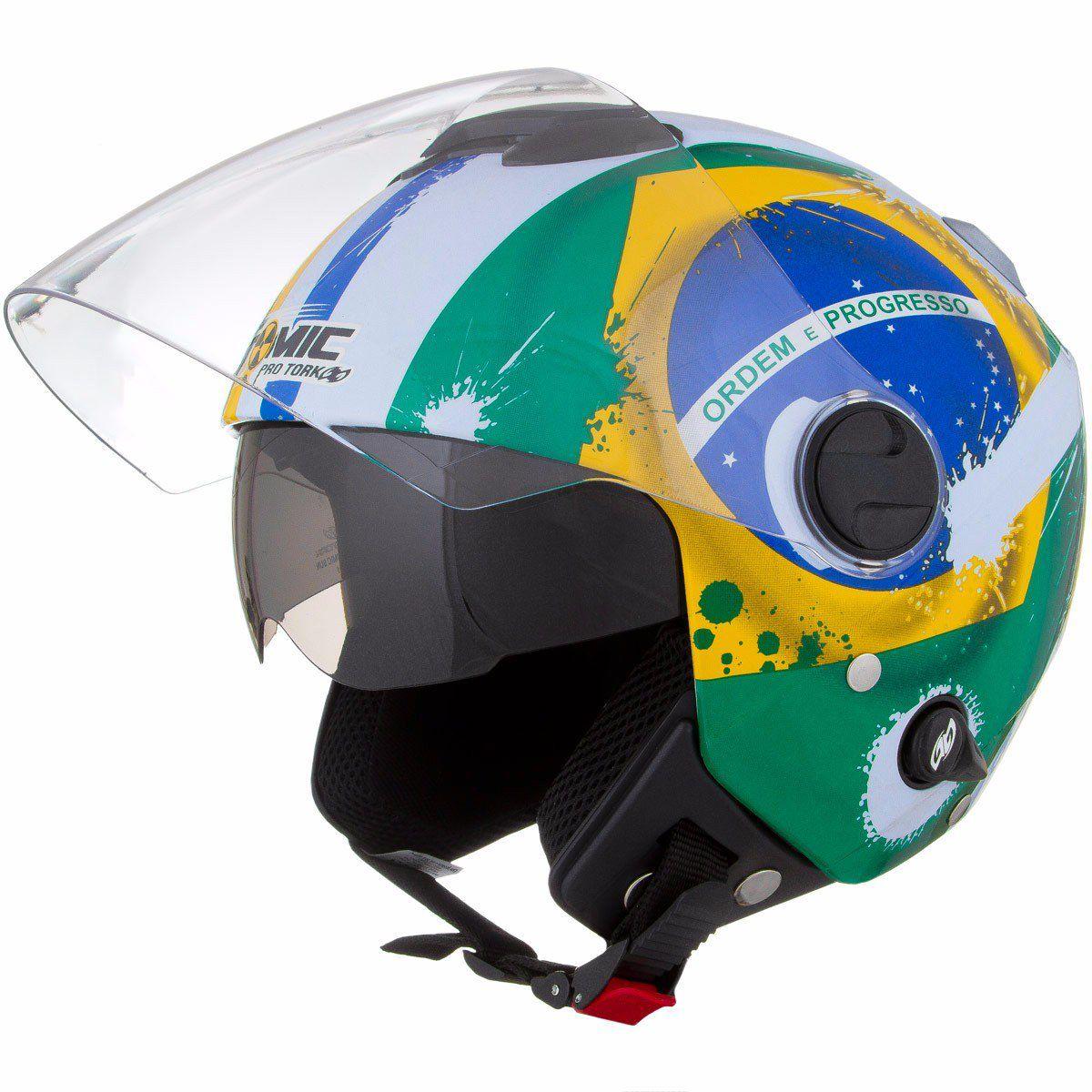 Capacete Aberto Nações Brasil - New Atomic - Pro Tork