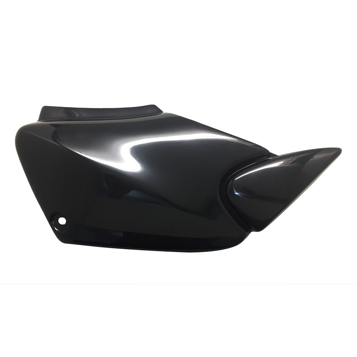 Tampa Lateral Honda CG 125 Fan 2005 a 2008 Preto Injetado - Carenagem Sportive