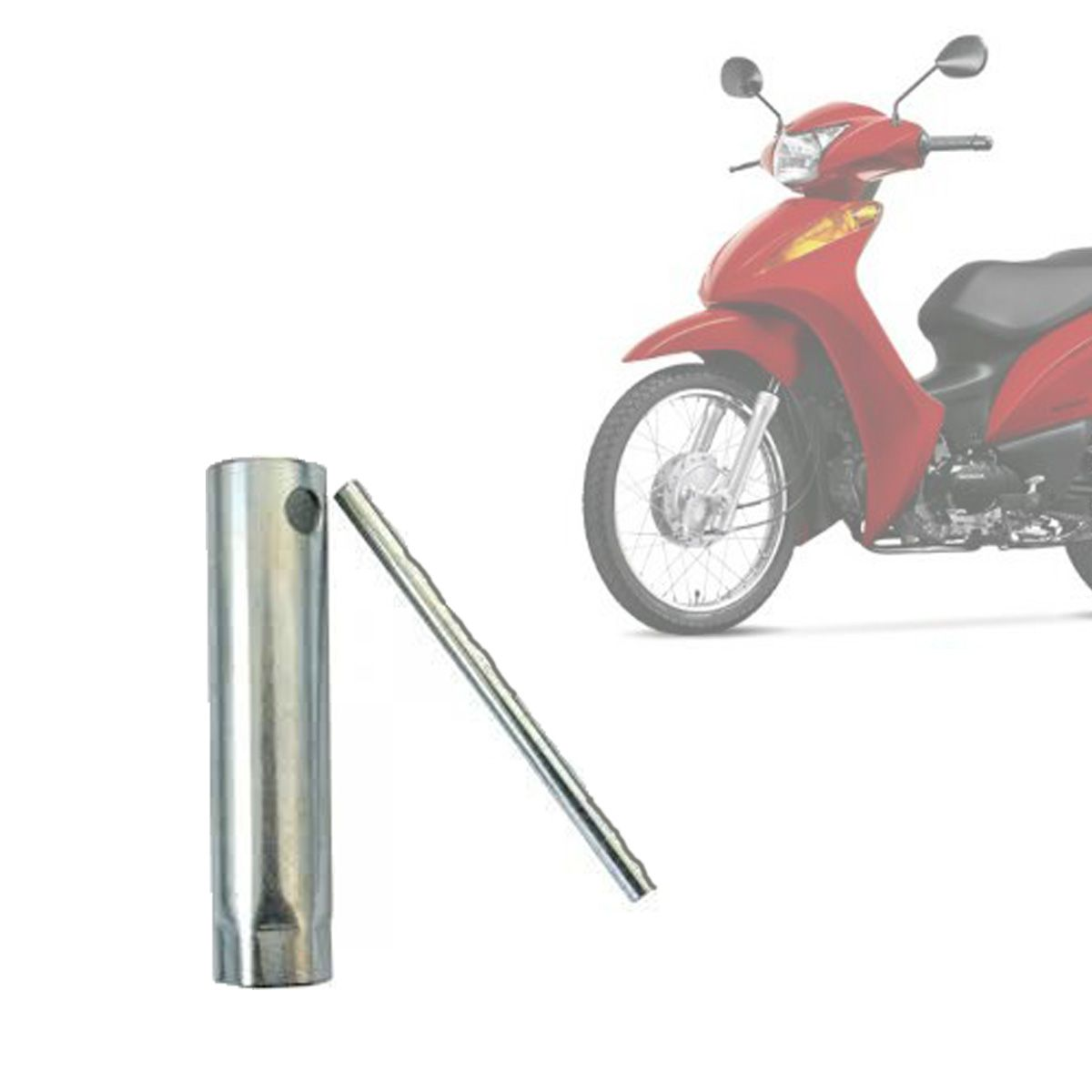 Chave de Vela Honda C 100 Biz Pop/Titan/Fan/Bros, Yamaha YBR Factor Fazer - Galvanizada - Pro Tork