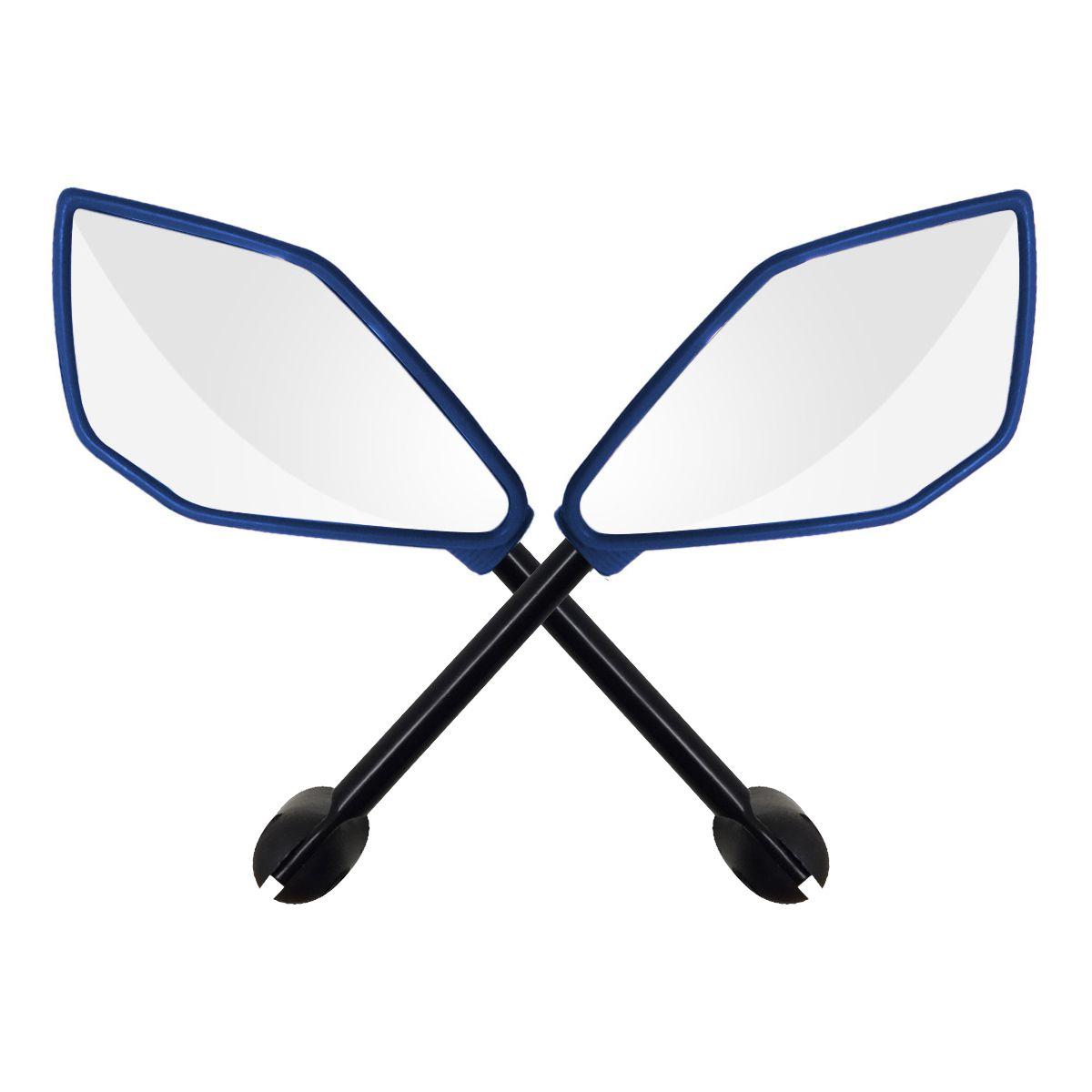 Espelho Retrovisor Honda - Direito e Esquerdo c/ Articulador - Azul - Rizoma Naja - Maximo