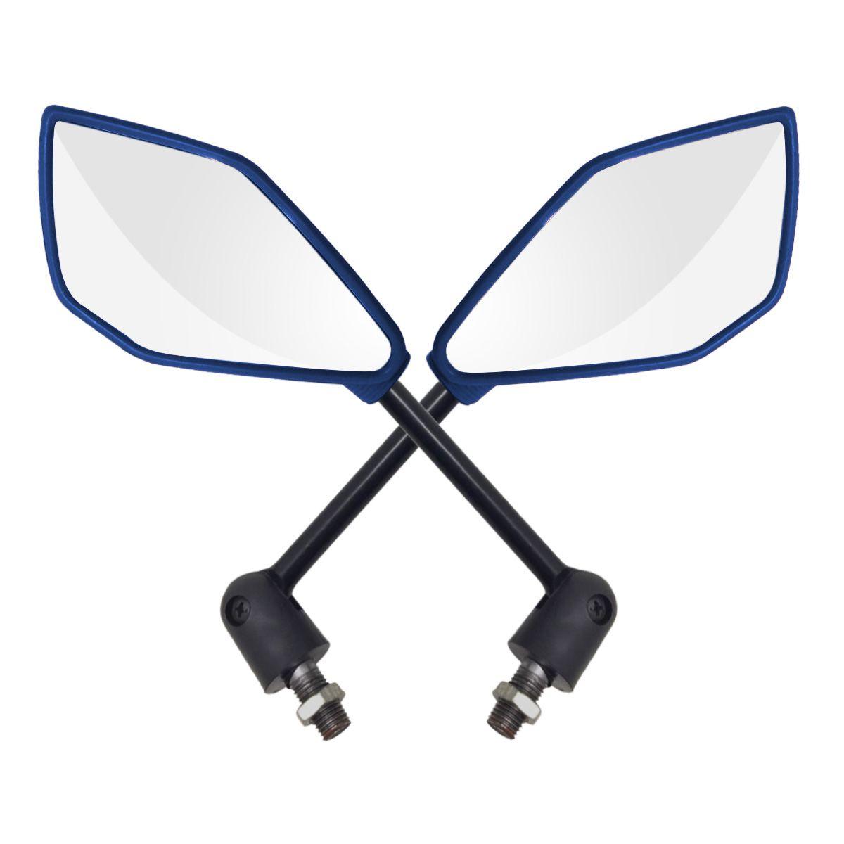 Espelho Retrovisor Yamaha - Direito e Esquerdo c/ Articulador - Azul - Rizoma Naja - Maximo