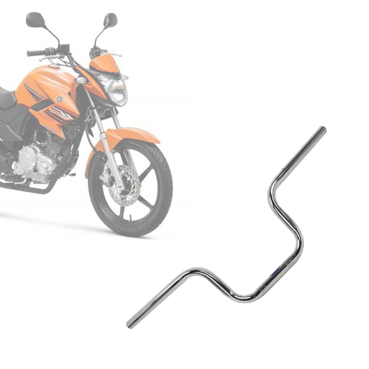 Guidão Yamaha YS 150 Fazer 2014 à 2019 - Aço Cromado c/ peso, sem rosca interno - Pro Tork