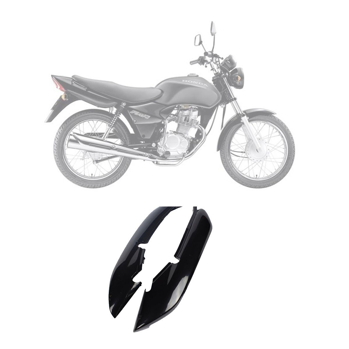 Rabeta Honda CG Fan 125 2005 à 2008 - Preto - Carenagem Pro Tork