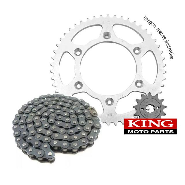 Kit Relação Honda Biz 100 2013 até 2015, King