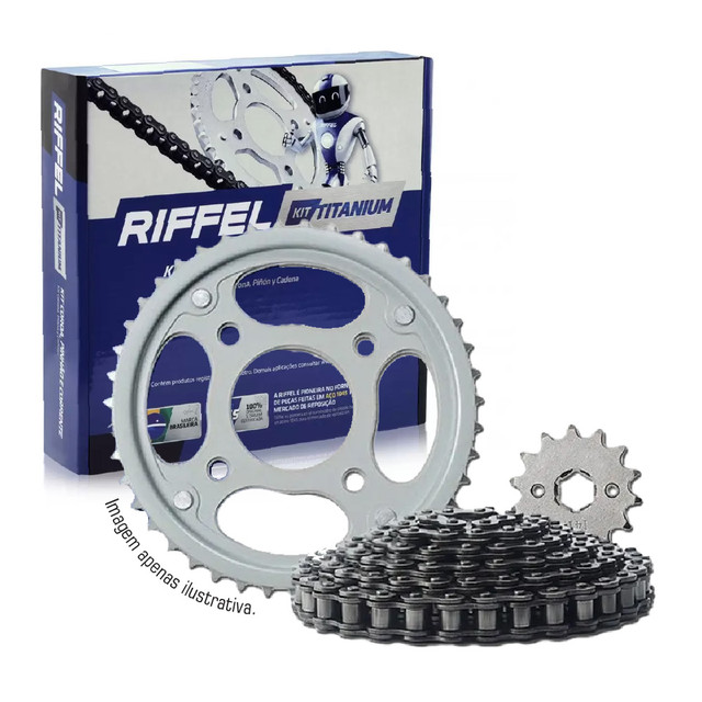 Kit Relação Honda Titan 150 04-15, Fan 150 09-15, Start 150 14-15, Cargo 150 14-15, Riffel