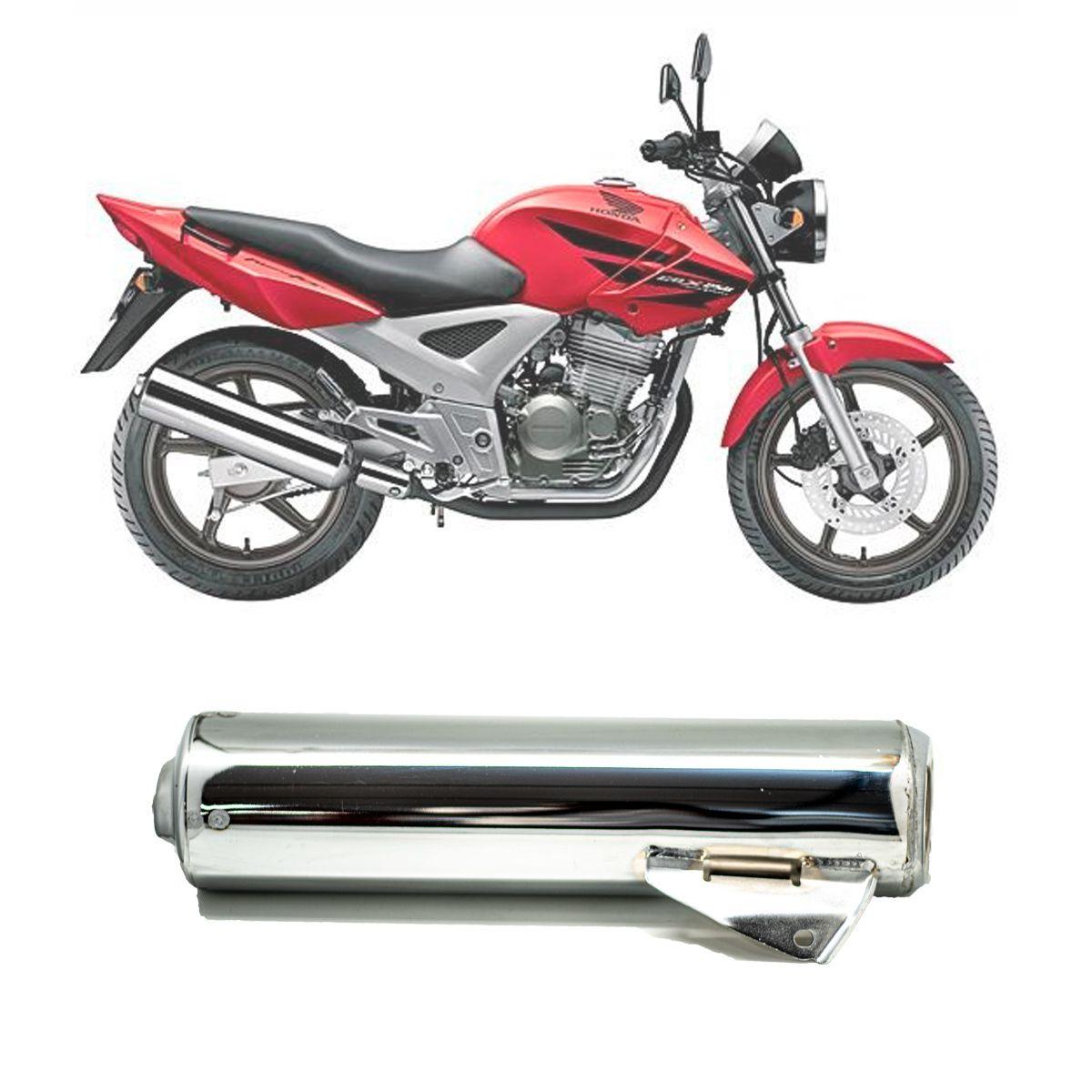 Ponteira Escapamento Honda CBX 250 Twister 2001 à 2008, Cromada, Pro Tork
