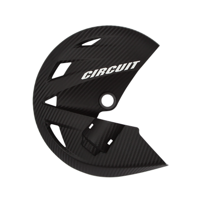 Protetor de Disco Honda NXR 150 Bros - Preto Carbon c/ Branco - Cicuit