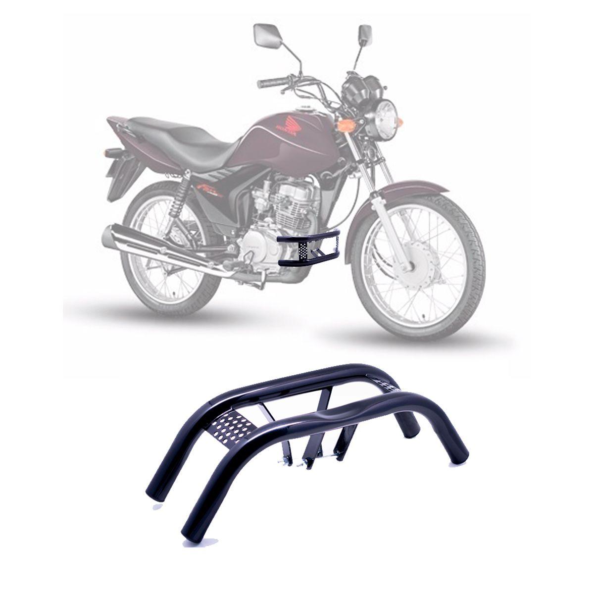Protetor de Pernas Barra Dupla Honda CG TITAN FAN 125 / 150 2009 à 2013 - Preto - Pro Tork