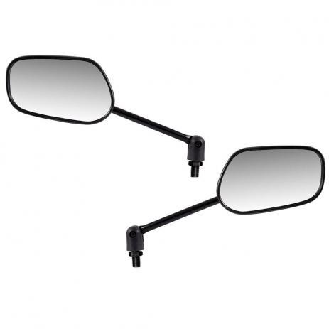 Espelho Retrovisor Mini c/ Articulador - Direito e Esquerdo - Padrão Honda Titan 2000 - Rosca Universal - Lente Plana - Preto - GVS