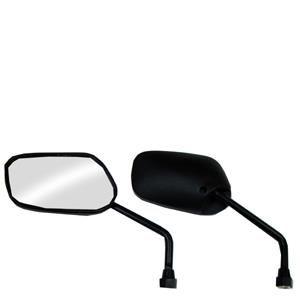 Espelho Retrovisor Mini - Direito e Esquerdo - Padrão Honda Titan - Rosca Universal - Lente Plana - Preto - GVS